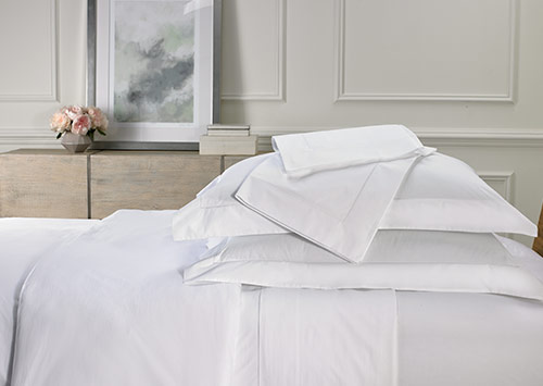 White Deluxe Linen Set 600 Thread Count Cotton Hotel Sheets By Sofitel Boutique