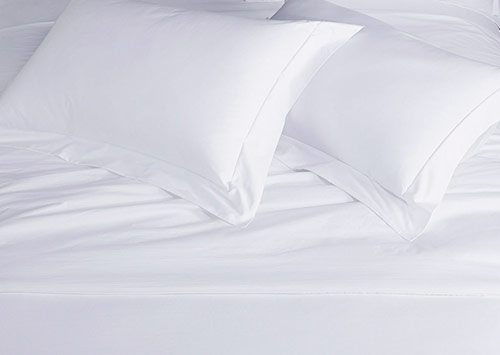 White Percale Linen Set 400 Thread Count Cotton Hotel Sheets By Sofitel Boutique